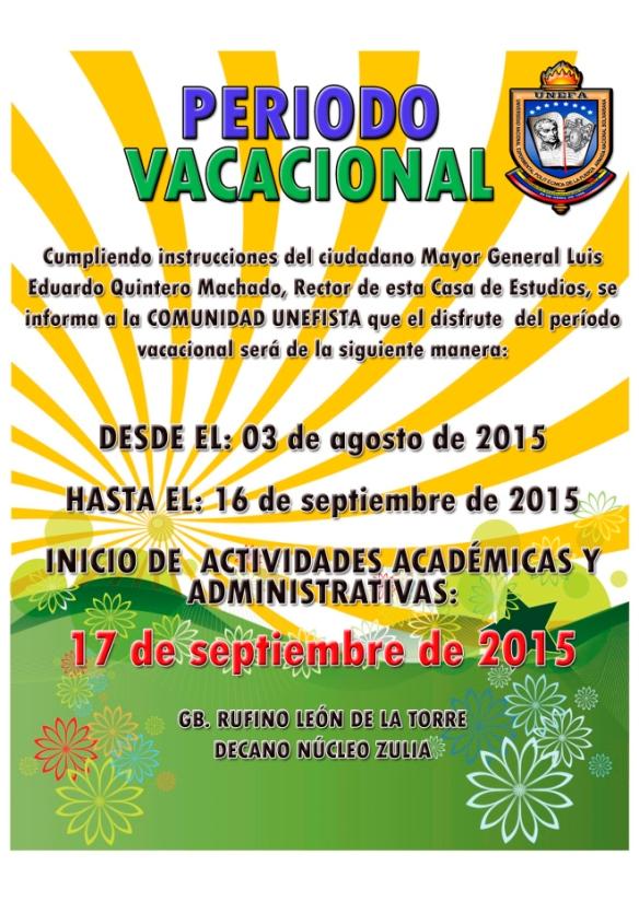 vacaciones 2015